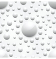 abstract background with white glossy spheres vector image