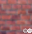 Blurred brick wall background vector image
