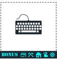 Keyboard icon flat vector image