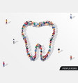 a large group people in form tooth vector image vector image