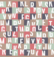 abstract geometric typography letters background vector image vector image