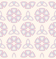 abstract seamless pattern with symmetric vector image vector image