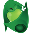apple and butterfly vector image