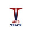 auto track emblem vector image