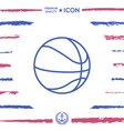Basketball ball line icon