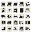 black book simple icons set vector image vector image