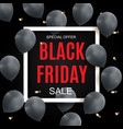 black friday sale inscription banner design vector image vector image
