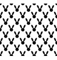 black rabbit seamless on white background vector image vector image
