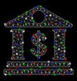 bright mesh 2d american bank building with light vector image vector image