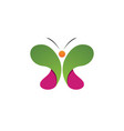 butterfly conceptual simple colorful vector image