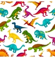 Cartoon dinosaurs children seamless pattern vector image vector image