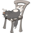 Cat on a chair Cartoon vector image vector image