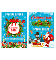 christmas and santa gifts vector image