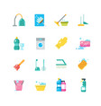 cleaning home services and household tools vector image vector image