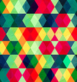 colorful triangle seamless pattern with grunge vector image vector image