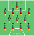 Computer game Cameroon Football club player vector image vector image