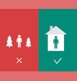 covid19-19 prevention advice stay at home concept vector image