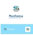 creative avatar logo design flat color logo place vector image vector image