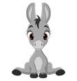 cute badonkey cartoon sitting vector image vector image