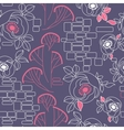 decorative seamless pattern with roses vector image vector image