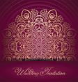 decorative wedding invitation 0107 vector image vector image