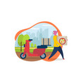 delivery service order shipping flat vector image
