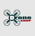 drone icon drone shop text vector image vector image