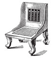 egyptian chair have a great variety of vector image vector image