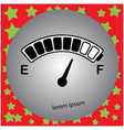 electric car fuel gauge with battery icon vector image vector image