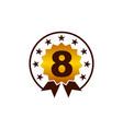 emblem best quality number 8 vector image vector image
