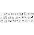 envelopes with letters doodle set vector image