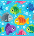 fish theme seamless background 1 vector image