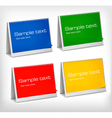four colorful banners vector image vector image