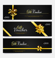 gift voucher collection surprise offer to holiday vector image vector image