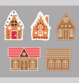 gingerbread house cookie set vector image vector image