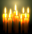 glowing candle vector image
