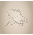 gold fish sketch vector image vector image