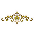 golden decorative element vector image vector image