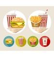 hamburger french fries vector image vector image