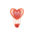 happy valentines day hot air heart balloon vector image vector image