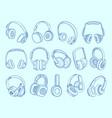 headphones wireless technology communication vector image