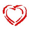 heart grunge vector image vector image
