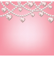 heart pearl necklace vector image vector image