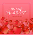 hearts happy valentines day love card flyer vector image vector image