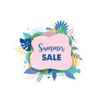hello summer abstract background summer sale vector image
