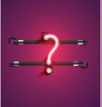 high detailed neon character from a set vector image vector image