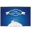 Just winter greeting card with polar bears family vector image vector image