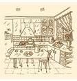 Kitchen Interior Sketch vector image