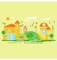 Landscape with Cute Little Houses vector image