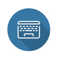 Laptop Flat Icon Flat Design vector image